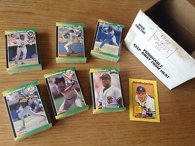 Complete Set Of 1989 Bowmans Best Sealed MLB Baseball Trading Cards