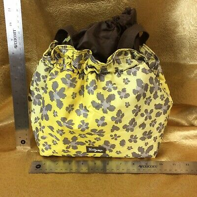 f9ec7abda58 Thirty-One Insulated Cinch It Up Lunch Bag Tote Leopard Yellow & Brown