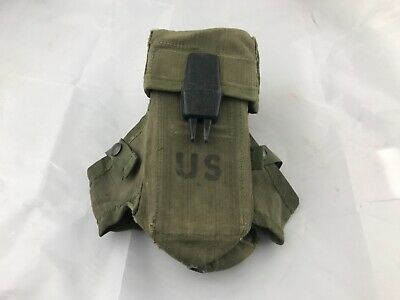 US Military Army OD Small Arms Ammo Pouch Case 3 Mag Magazines