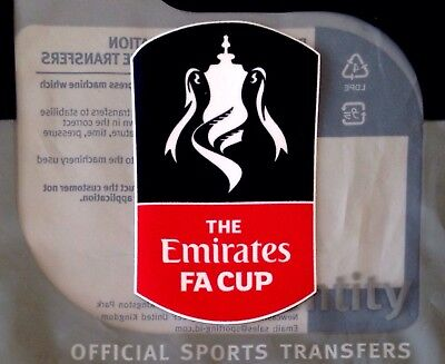 2017-19 English EMIRATES FA CUP Football Official SPORTINGiD Soccer Badge Patch