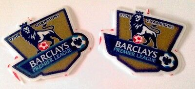 ac5526965b7 2007-08 Manchester Utd EPL Champions SportingiD REPLICA SIZE Badge Patch Set
