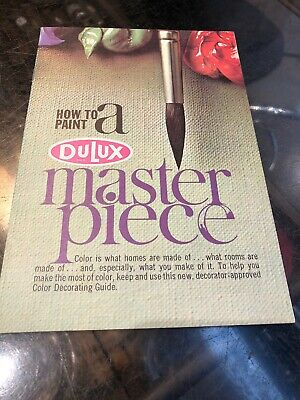 "Dulux ""How To Be Paint A Masterpiece"" Vintage Brochure"