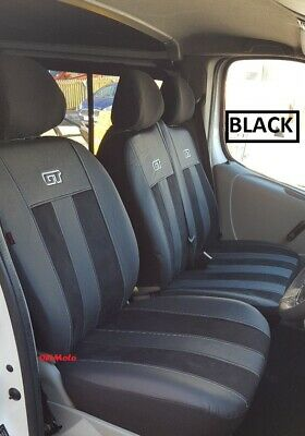 FORD TRANSIT CUSTOM VAN 2013 PRESENT ECO LEATHER TAILORED FRONT SEAT COVERS