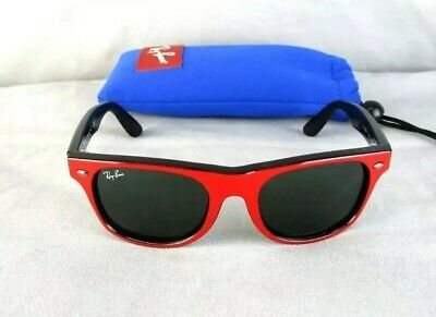 8295f559ee Ray Ban Juniors Youth Toddler Red Black Wayfarer RJ9035-S 162 71 Sunglasses