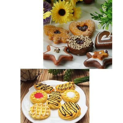 13Pcs Artificial Cookies Set Dessert for Decoration Lifelike Toy for Display