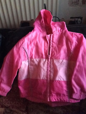 Girls Raincoat  Jacket Cagoule , Fleece lined Age: 3 YEARS - Sweet Millie - BHS