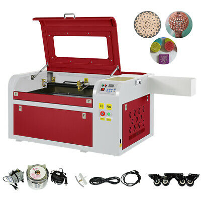 220V 60W CO2 Laser Engraver Cutter Wood Cutting Engraving Machine 600x400mm USB