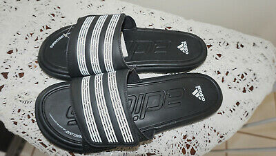3c5c2916ecae ADIDAS mens SLIDE SANDALS sz 8 ADISSAGE CLOUDFOAM BLACK WHITE bath sport  beach