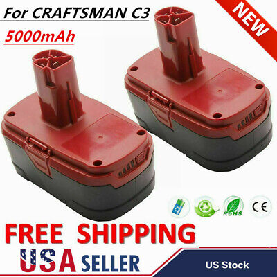 2× For Craftsman C3 19.2V XCP 5.0Ah Capacity Lithium Battery 11375 11376 CRS1000