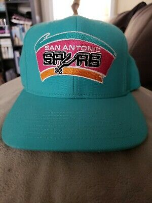 reputable site 7589f 458fd San Antonio Spurs SOLID Snapback Mitchell   Ness NBA Hat   Teal