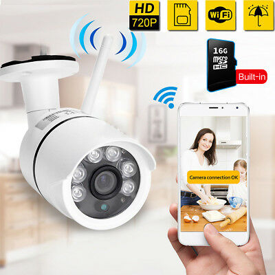 720P Outdoor Wireless WIFI IP Camera Network Night IR Onvif CCTV Security System