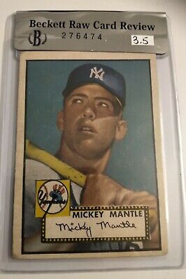 Mickey Mantle Rookie Card Topps 1952 #311 BVG 3.5