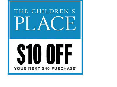THE CHILDREN'S PLACE code coupon ($10 off $40+) exp 3/2/2020