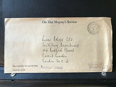 1981 - British Forces PO Hong Kong - Stampless OHMS Cover to London - ref258