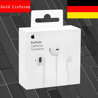 Original Apple Lightning EarPods Headset Kopfhörer für iPhone 7 8 8 Plus X DE