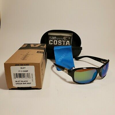 d72c8ee40 COSTA DEL MAR Inlet 580P POLARIZED Sunglasses Womens Black/Green ...