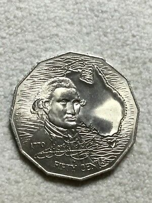 1970 50c Captain Cook Australian Coin - 50 Cent Coin UNC X 1 Coin from mint roll