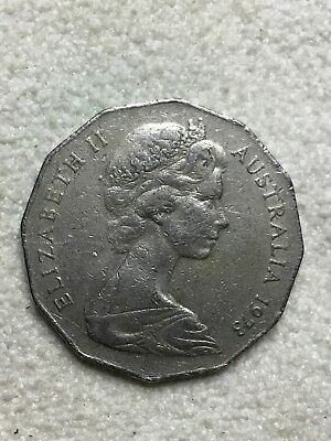 1973 Australian 50 cent coin - Circulated - 50c