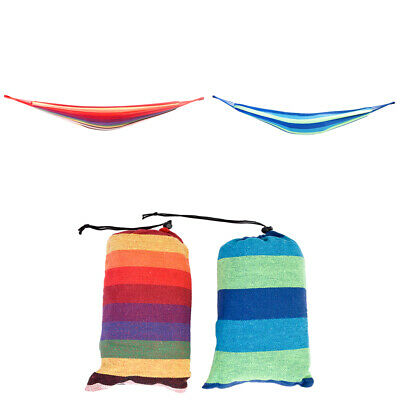 200*80cm Portable Polyester&Cotton Hammock Swing Bed Camping Travel Outdoor Bed