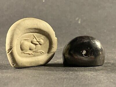 Scarce Rare Circa 300-200Bce Ancient Near Eastern Zoomorphic Bead Seal Pendant