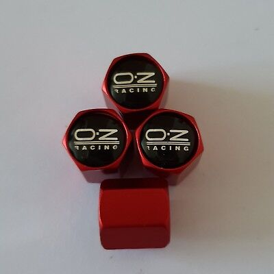 OZ RACING Wheel Valve Dust caps all models 4 COLOURS all cars Bikes MATTE RED