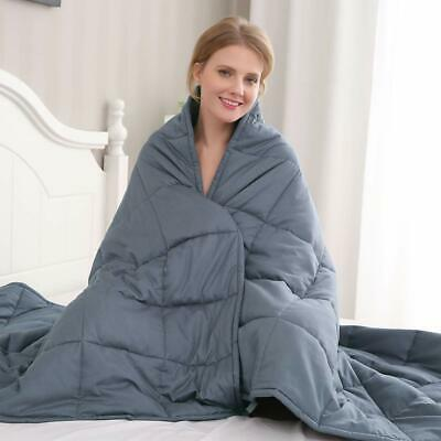 Anxiety Weighted Blanket 72''x 48'' Queen Full Size 15lb 20lb 25lb Reduce Stress