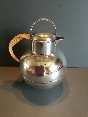 Bernard Rice's Sons Apollo Silver Plated Hot Water Jug Cane Handle