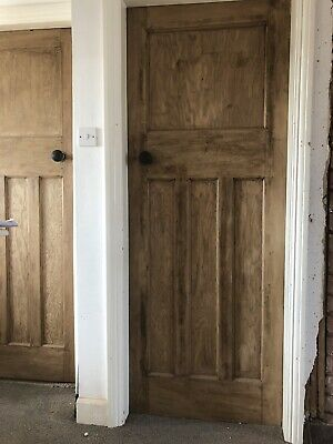 1930s 1 over 3 panel stripped pine doors - 5 Available, Various Sizes