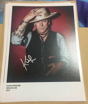 Kiefer Sutherland Reckless & Me Cd Album & Signed Photograph W/Proof 24