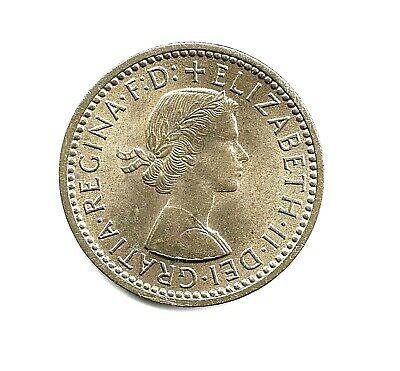 1956 ELIZABETH II Farthing.  UNC' with some mint lustre