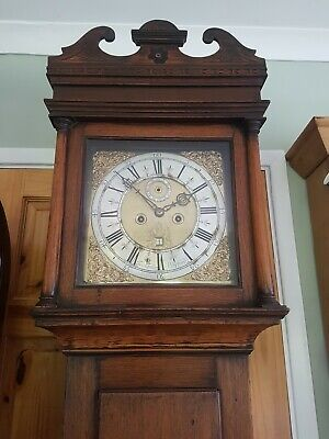 18th C 8 DAY LONGCASE CLOCK Brass Face 1720 by Faldo Shefford Bedfordshire