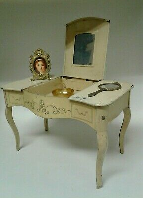 FRENCH Antique CHILD'S Toy VANITY TABLE