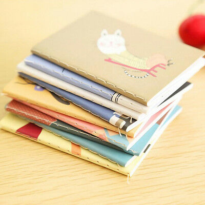2Pocket Cartoon Diary Planner Notepad Notebook Write Paper Handy Memo Journal FH
