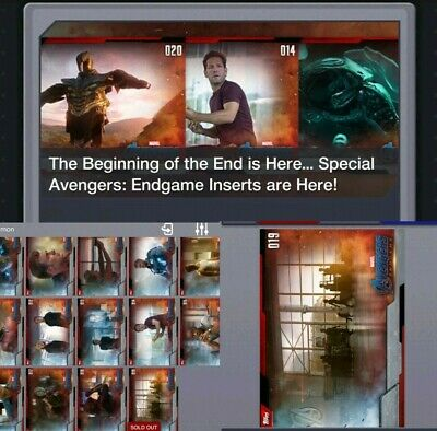 Topps Marvel Collect Card Trader Avengers Endgame Complete Set of 20 w/ Awards