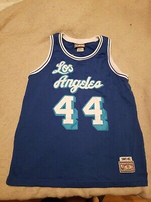 935e21a4f Hardwood Classics 1961-62 NBA Los Angeles Lakers Jerry West  44 Jersey Size  M