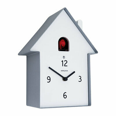 DIAMANTINI & DOMENICONI - Meridiana Cuckoo Clock - Aluminium, Red Bird,