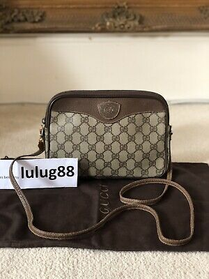 b13a6b7e2b1 100% AUTHENTIC Vintage Gucci 1970 s Brown GG Cross Body Camera Ophidia  Style Bag