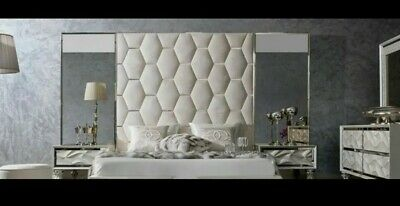 VELVET UPHOLSTERED WALL PANELS/ HEADBOARD with metal inserts