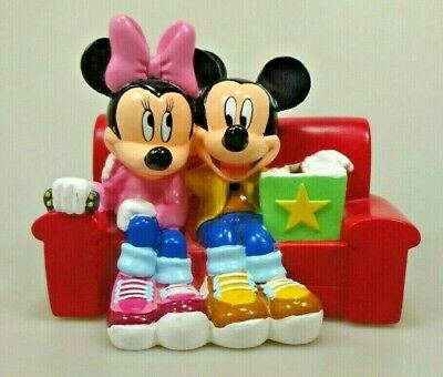 Disney Spardose Piggy Bank Mickey Minnie Maus Mouse rotes Sofa red couch 962510