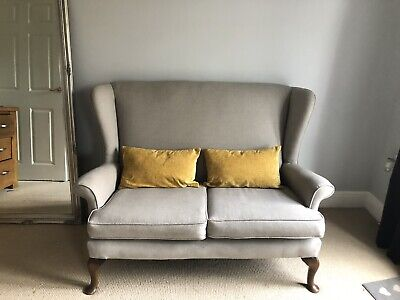 Vintage Parker Knoll Two Seater Sofa - Beautiful, Reupholstered In Grey