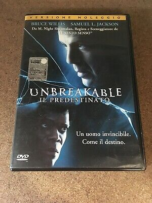Unbreakable Il Predestinato Bruce Willis Samuel L. Jackson Dvd Video Ex Rental