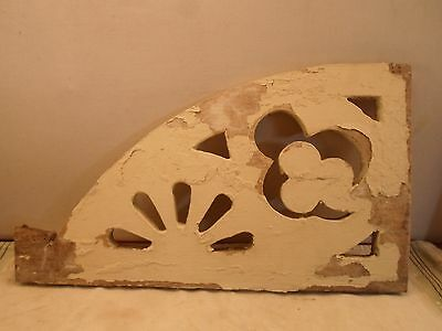 antique wood bracket, architectural detail  10 by 18 by  3/4 inches