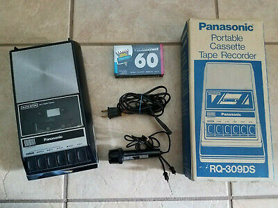 Panasonic Portable Cassette Tape Recorder With Microphone RQ-309DS Tested w/ Box