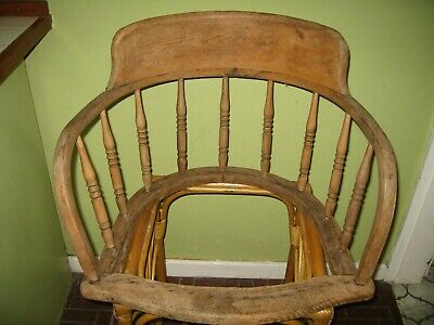 Smokers bow / oak spindle chair back and seat frame / No Legs