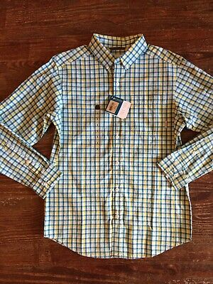 af10999f98d Columbia Rapid Rivers II Long Sleeve Plaid Shirt NWT Size Small Blue Yellow  $50
