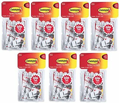 COMMAND SMALL CLEAR Wire Hooks with Clear Strips, 3 ea (Pack