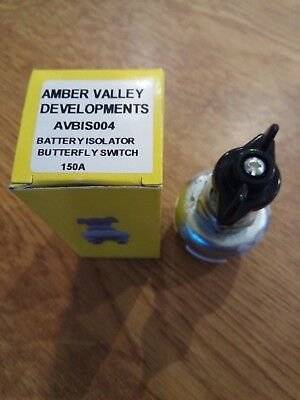 Amber Valley Fixed Key Battery Isolator Butterfly Switch Kill Cut Off Switch