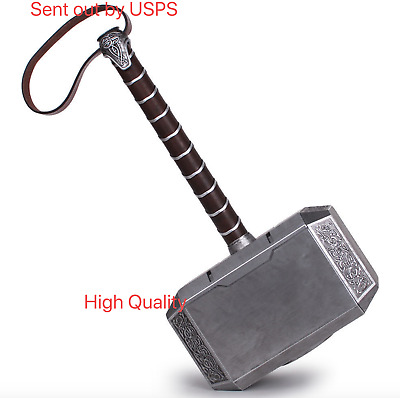 Fast Ship 1:1 Full Solid God of thunder Thor Hammer High Density Resin Cosplay