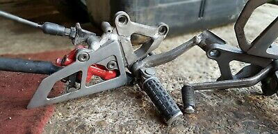 1995-1997 KAWASAKI ZX6R ZX6-R F Right Front Footrest Hanger & Peg + Brake #18