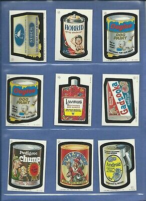 Wacky Packages 1982 Irish Series Complete Set 30 Of 30 W Variations! Rare Nmmt